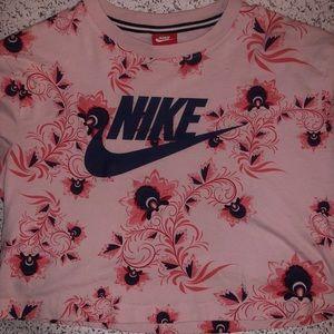 Floral Nike Crop Top